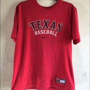 Red Nike Texas Baseball T-Shirt
